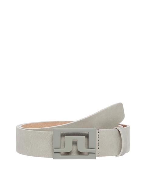 Mens Slater Brushed Leather Belt Stone Grey