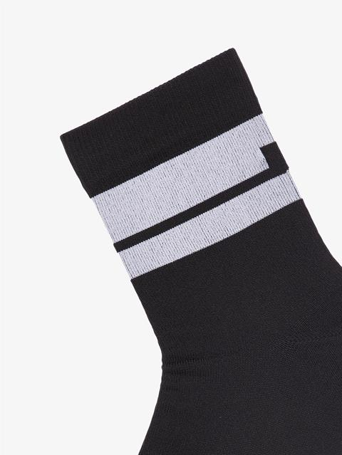 Mens Dry Yarn Golf Sock Black