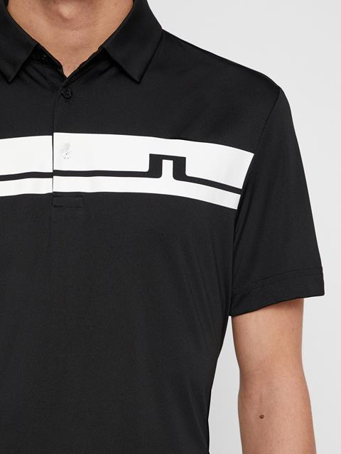 Mens Clark TX Jersey Polo Black