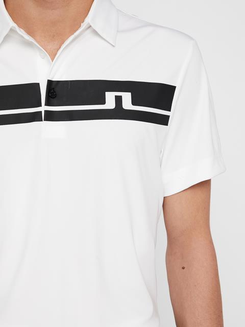Mens Clark TX Jersey Polo White