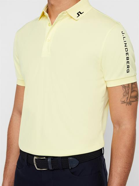 Mens Tour Tech TX Jersey Polo Still Yellow