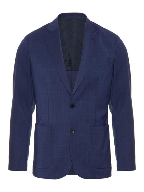 Mens Hopper Voyager Wool Blazer Mid Blue