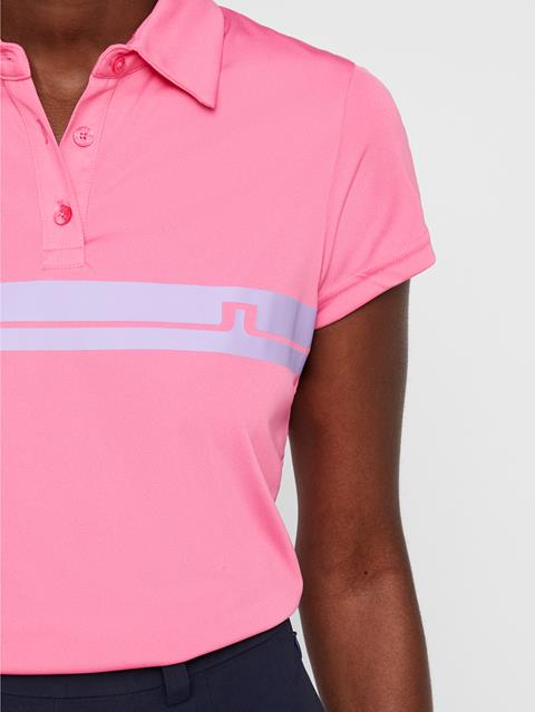 Womens Orla TX Jersey Polo Pop Pink