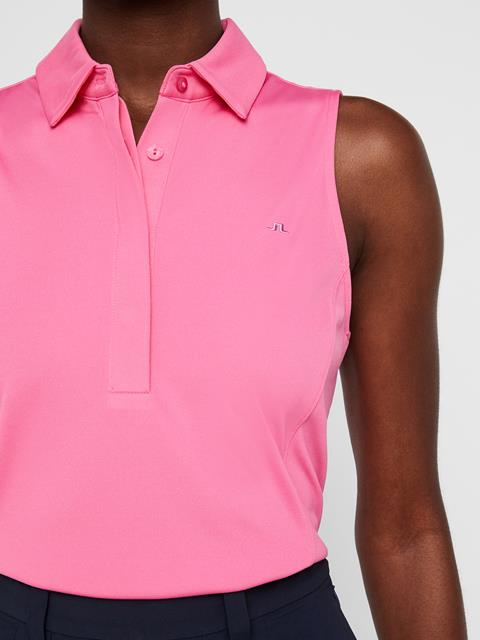 Womens Dena TX Jersey Polo Pop Pink