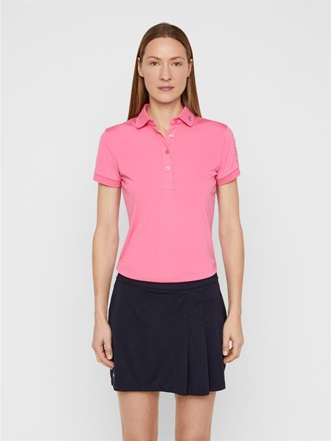 Womens Tour Tech TX Jersey Polo Pop Pink