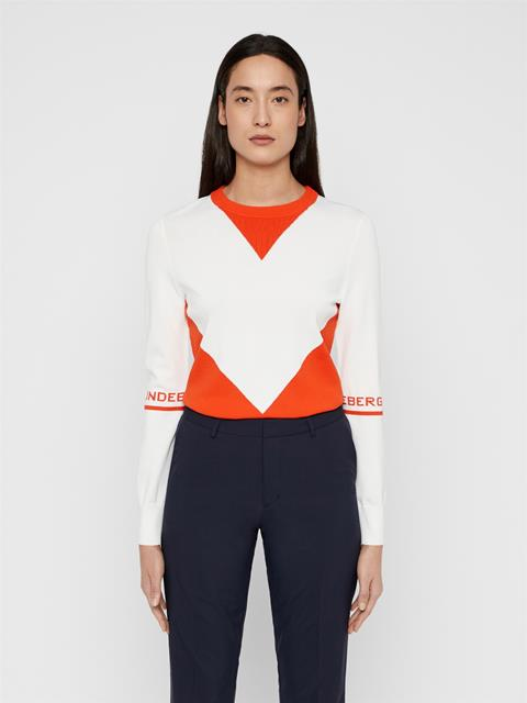 Womens Celine Sweater White
