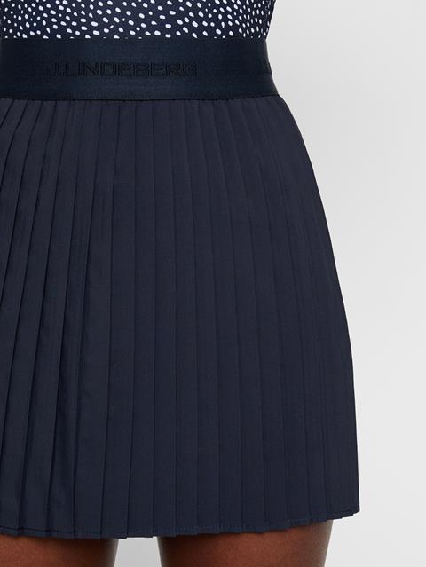 Womens Chloe Light Poly Stretch Skirt JL Navy
