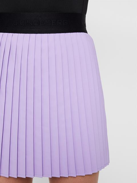 Womens Chloe Light Poly Stretch Skirt Tulip Purple