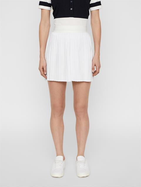 Womens Chloe Light Poly Stretch Skirt White
