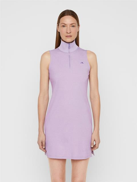 Womens Elsa Cotton Poly Dress Tulip Purple Melange