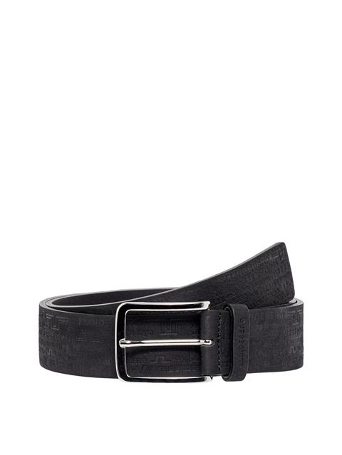 Mens Archive Brushed Leather Belt Black