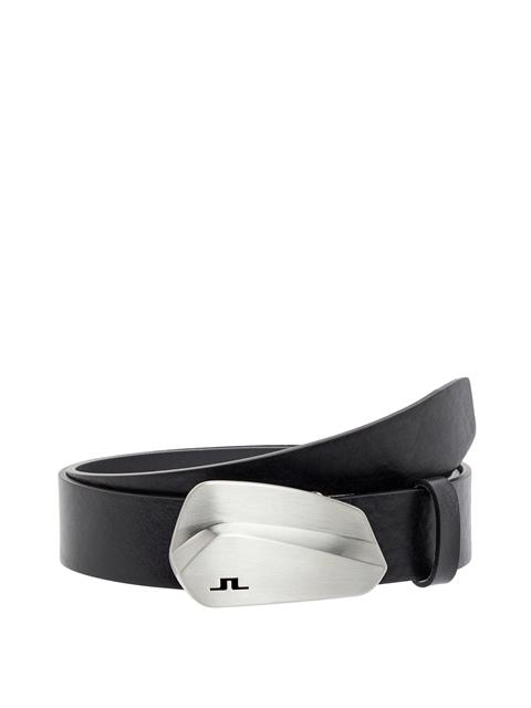 Mens Golf Club Leather Belt Black