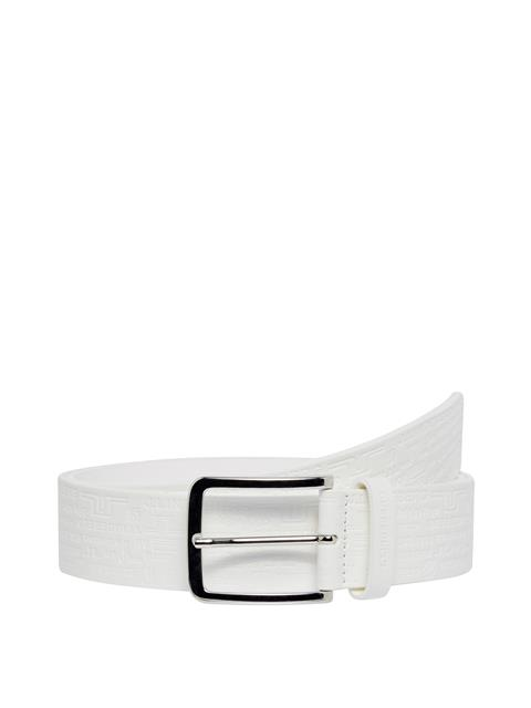 Mens Archive Leather Belt White