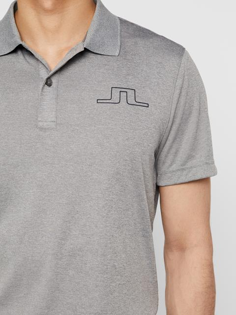Mens Bridge TX Jersey Polo Stone Grey Melange