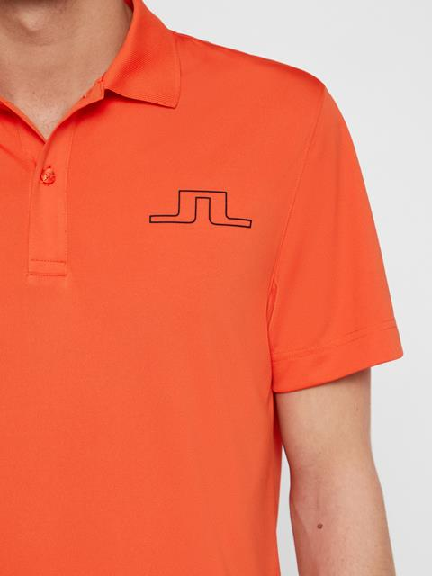 Mens Bridge TX Jersey Polo Tomato Red