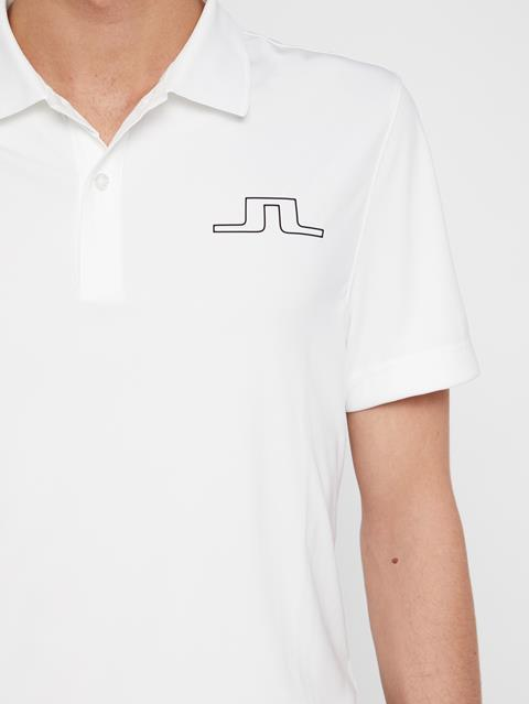 Mens Bridge TX Jersey Polo White