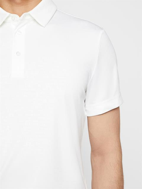 Mens Pine TX Jersey Polo White