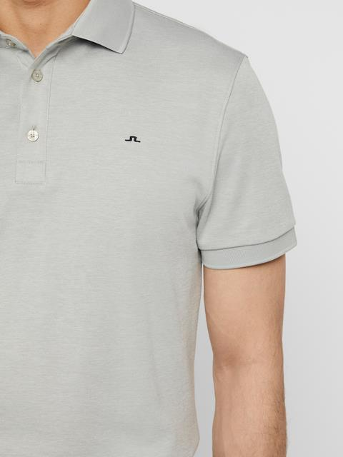 Mens Stan Club Pique Polo Stone Grey Melange