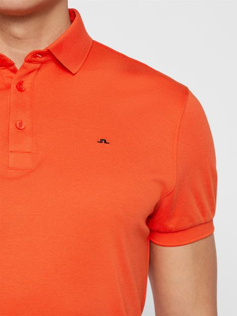 Mens Stan Club Pique Polo Tomato Red