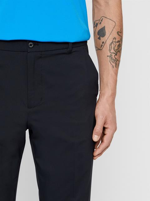 Mens Johan Light Poly Stretch Pants Black