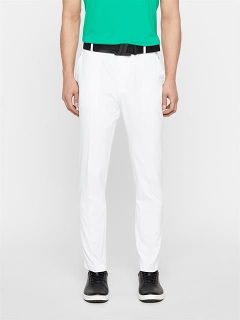 Mens Johan Light Poly Stretch Pants White
