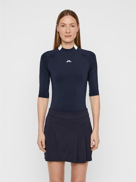 Womens Sana Compression Top JL Navy