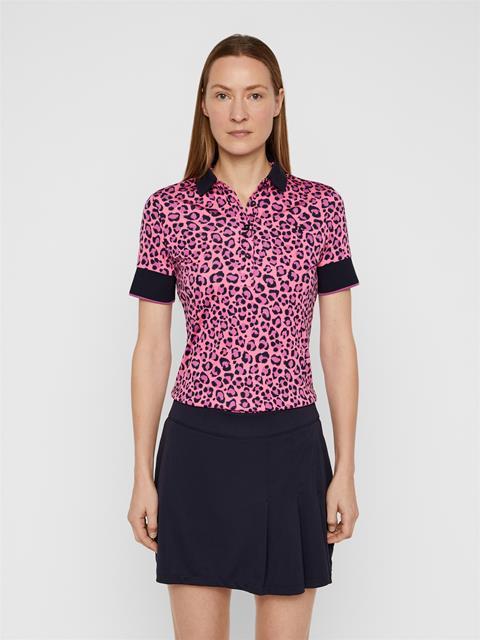 Womens Lexie TX Coolmax Polo Pink Leopard
