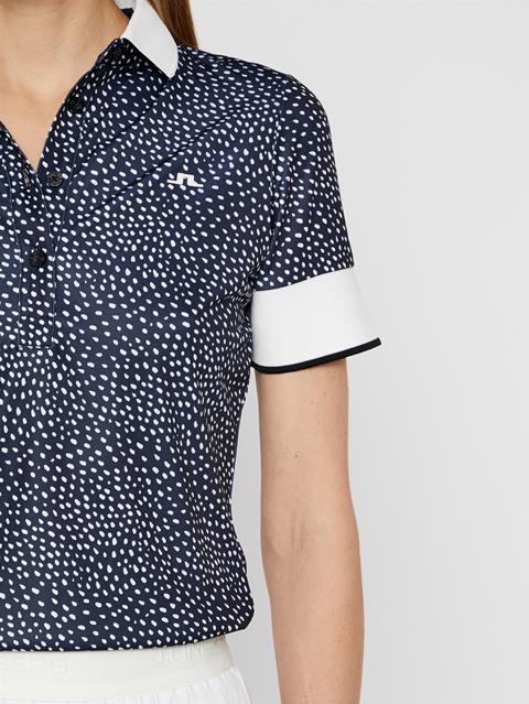 Womens Lexie TX Coolmax Polo White Dot