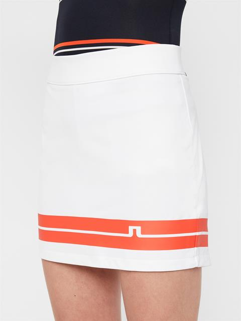 Womens Olga TX Jersey Skirt White