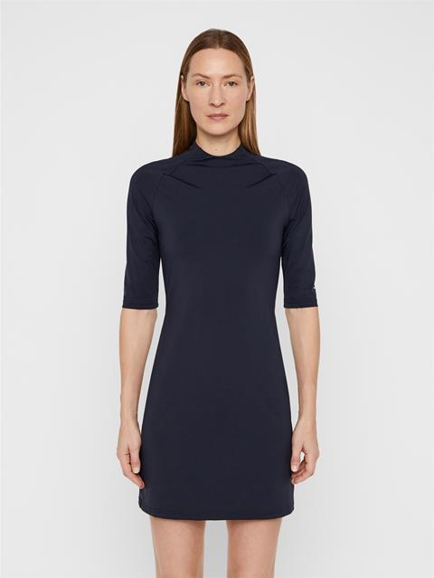 Womens Sahra Lux Sculpt Dress JL Navy