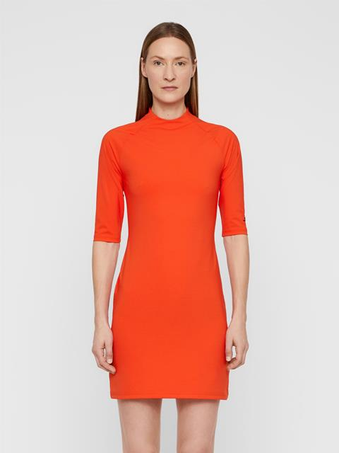 Womens Sahra Lux Sculpt Dress Tomato Red