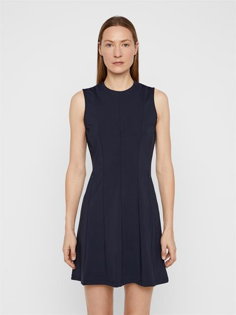 Womens Jasmin Lux Sculpt Dress JL Navy
