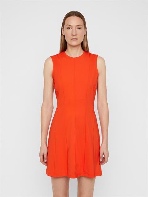Womens Jasmin Lux Sculpt Dress Tomato Red