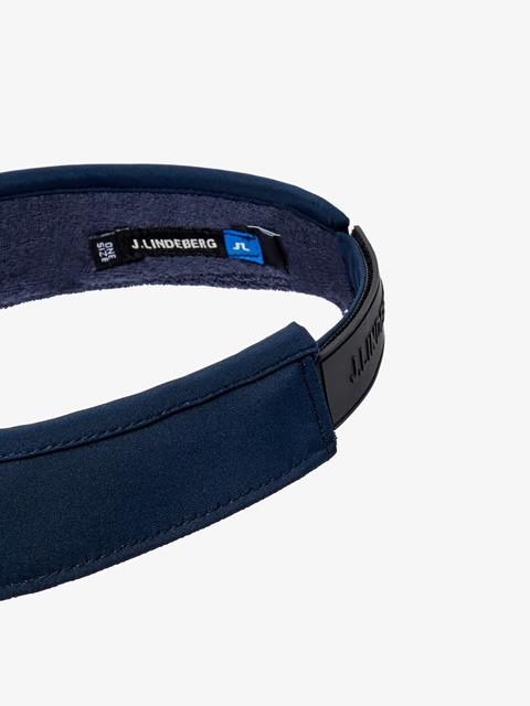 Mens Yaden Tech Stretch Visor JL Navy