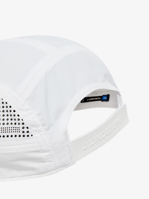 Mens Chad Micro Poly Cap White