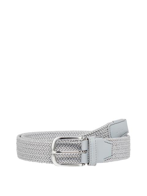 Mens Bernhard Elastic Belt Stone Grey