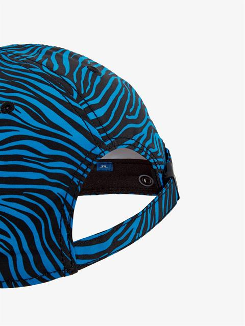 Mens Printed Angus Cap Zebra Worl Blue