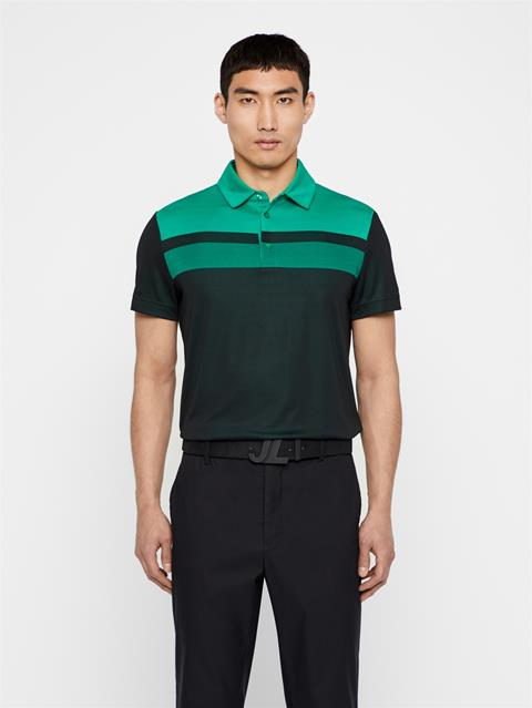 Mens Kade TX Jacquard Polo Black