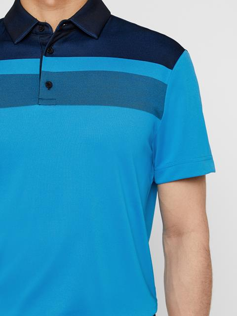 Mens Kade TX Jacquard Polo True Blue