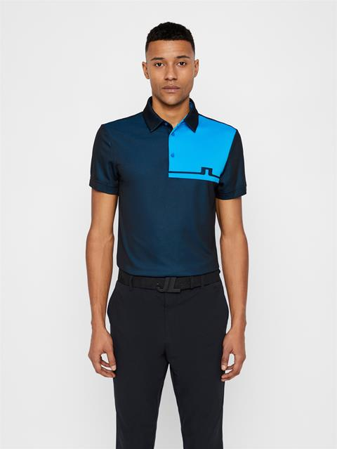 Mens Joaquin TX Jacquard Polo Black