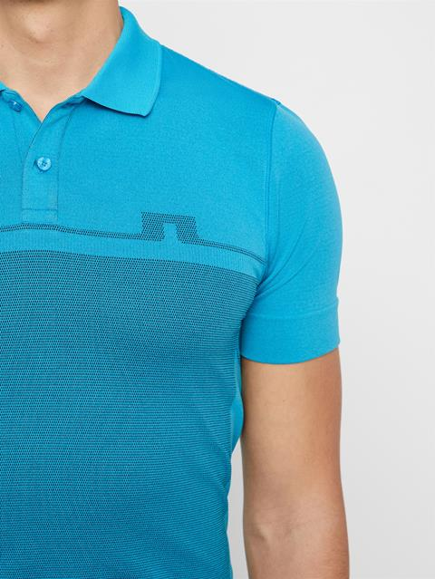 Mens Alfred Seamless Polo True Blue