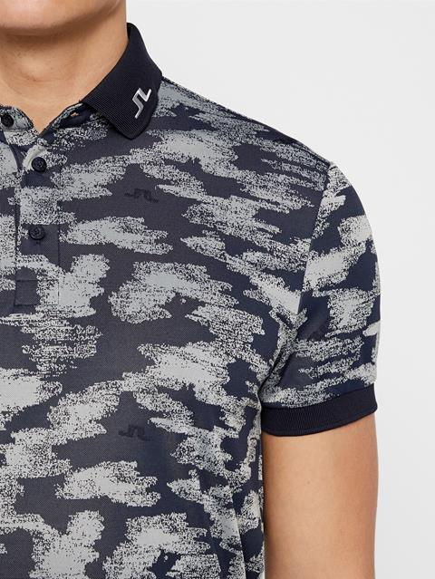 Mens KV TX Jacquard Polo Camou Grey