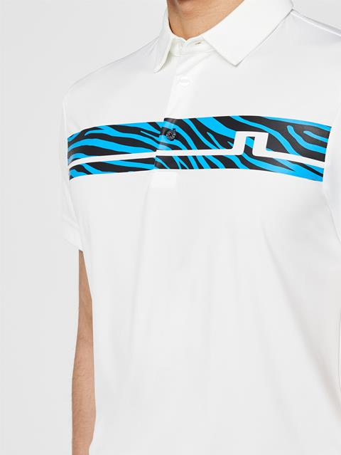 Mens Clark Printed TX Jersey Polo White