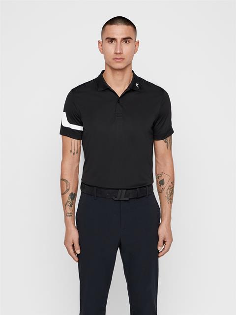 Mens Heath TX Jersey Polo Black