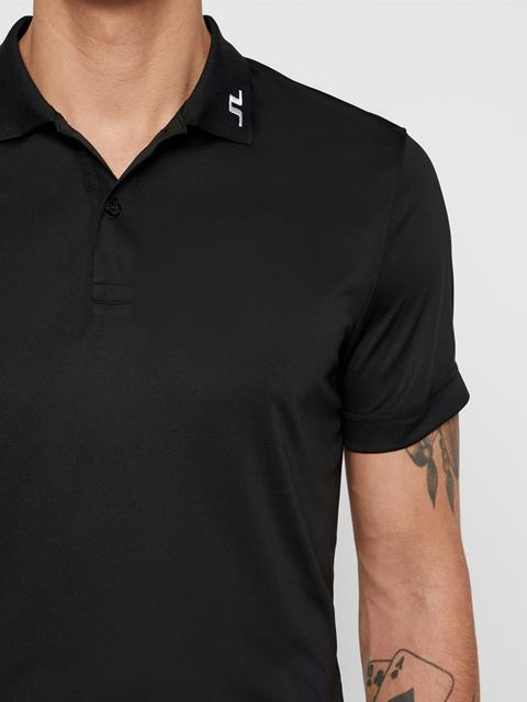 Mens Heath TX Jersey Polo Black