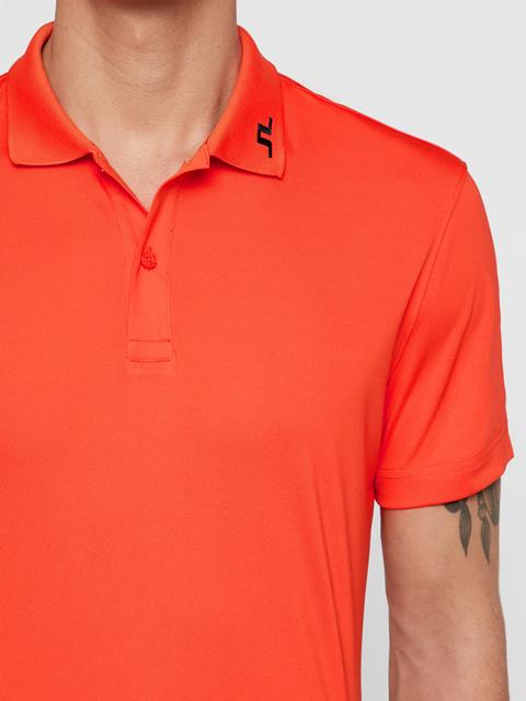 Mens Heath TX Jersey Polo Tomato Red