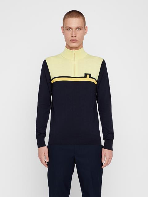 Mens Theo Wool Coolmax Sweater JL Navy