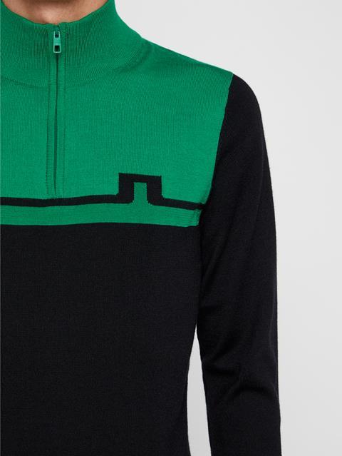 Mens Theo Wool Coolmax Sweater Stan Green
