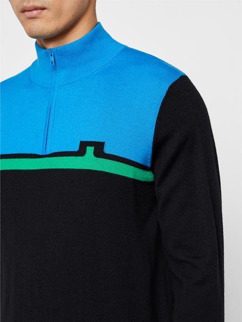 Mens Theo Wool Coolmax Sweater True Blue