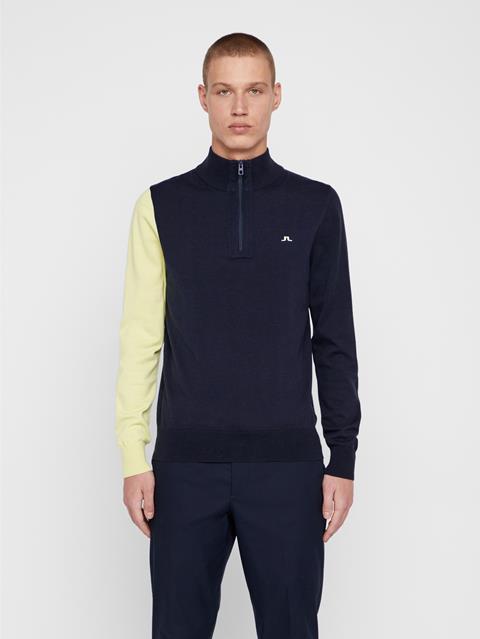 Mens Liam Cotton Coolmax Sweater JL Navy